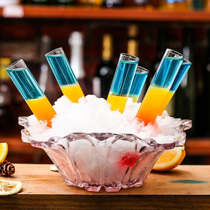High quality glass bar tools cocktail test tube barware glass test tube 5pcs/set