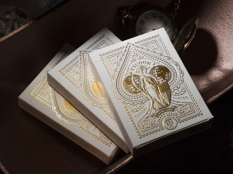 Tycoon Ivory Edition Playing Cards by Theory11 Poker USPCC Collectible Deck Magic Card Games Magic Tricks Props for Magician
