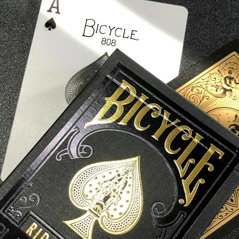 Bicycle Rider Back Black Gold Playing Cards Premium Deck USPCC Limited Edition Poker Magic Card Games Magic Tricks Props