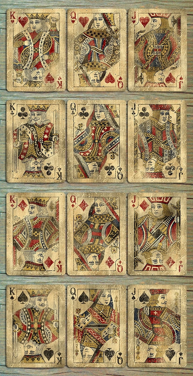 Bicycle Vintage Classic Playing Cards--Distressed Look