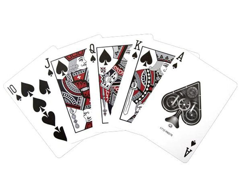 Bicycle Playing Cards--Silver Steam Punk